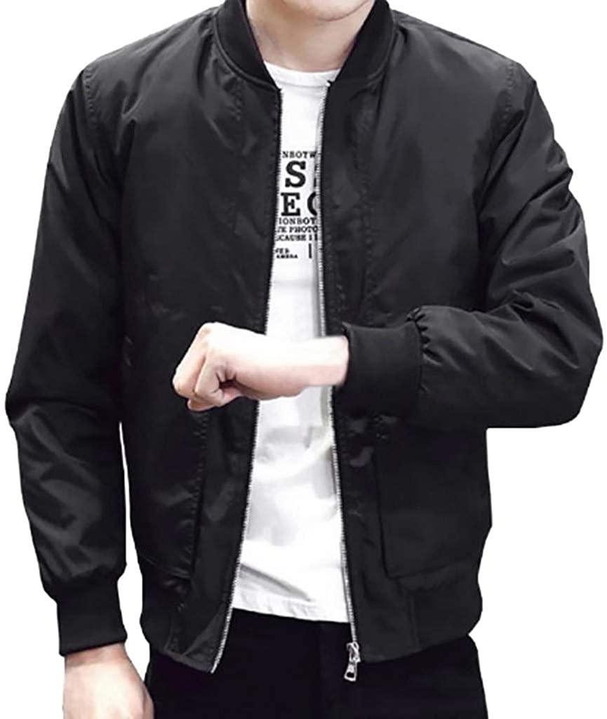 sweetnice man clothing Lightweight Bomber Jacket for Men Casual Slim Fit Windbreaker Zip Sportswear Outerwear Coat