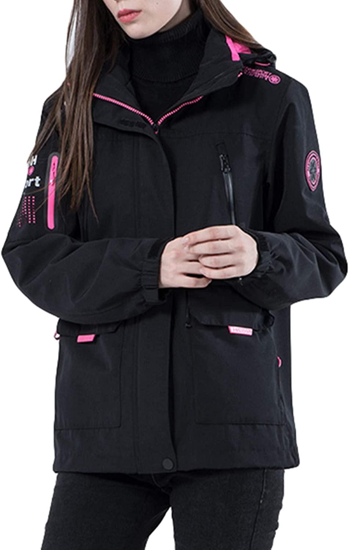 LIMATRY Winter Women's Hooded Waterproof Warm Ski Jacket Sportswear Rain Coat for Hiking