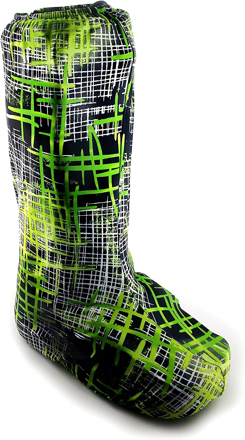 My Recovers Walking Boot Cover for Fracture Boot, Fashion Cover in Hatchet, Tall Boot, Made in USA, Orthopedic Products Accessories (Large)