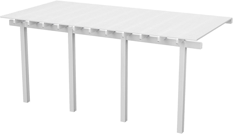 Heritage Patios Aluminum Pergola - 18 ft. W x 8 ft. D (White) / 30 lbs.