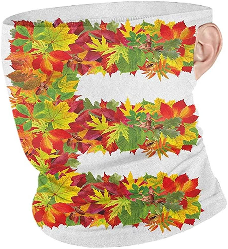 Headband Cooling Letter E Chestnut Maple Leaves Natural Oak Petals Vibrant Colors E Symbol Print,for Dust, Outdoors, Festivals, Sports Vermilion Yellow Green 10 x 12 Inch