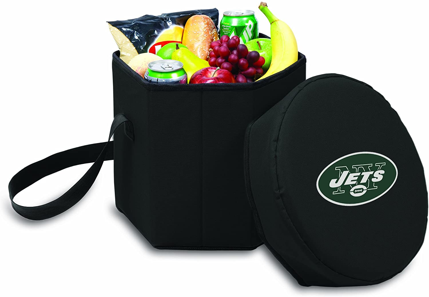 NFL New York Jets Bongo Insulated Collapsible Cooler, Black