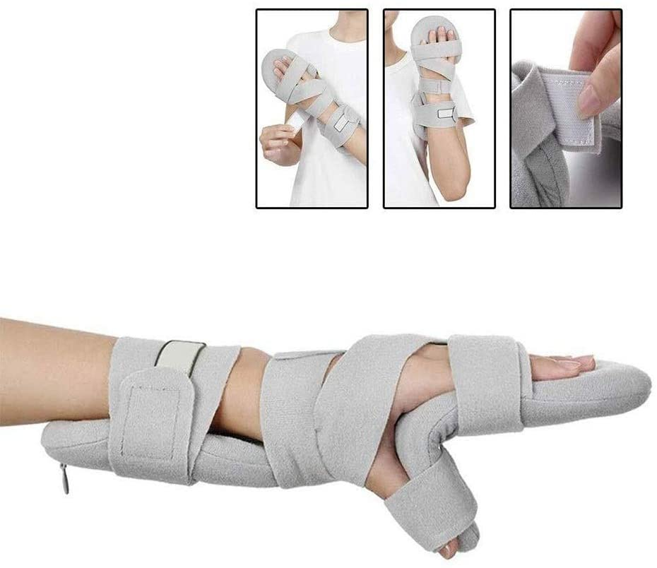 Ccom Adjustable Finger Orthotics - Finger Training Board for Prevent Flexion Contractures,Deformation & Deformity 1229 (Size : Left Hand)