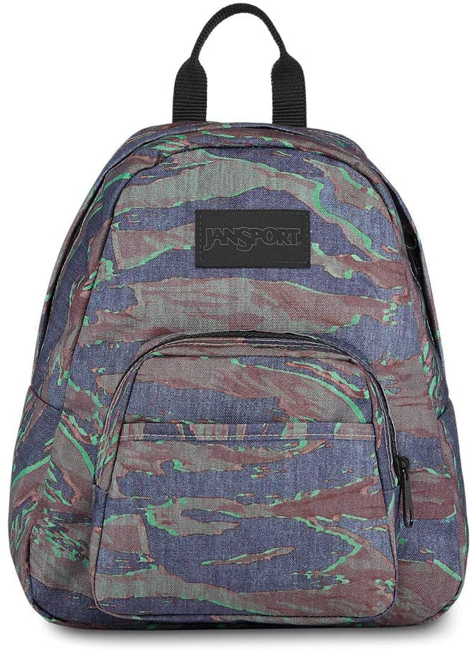 JanSport Half Pint LS Mini Backpack - Ideal Day Bag for Travel & Sightseeing | Tiger Camo