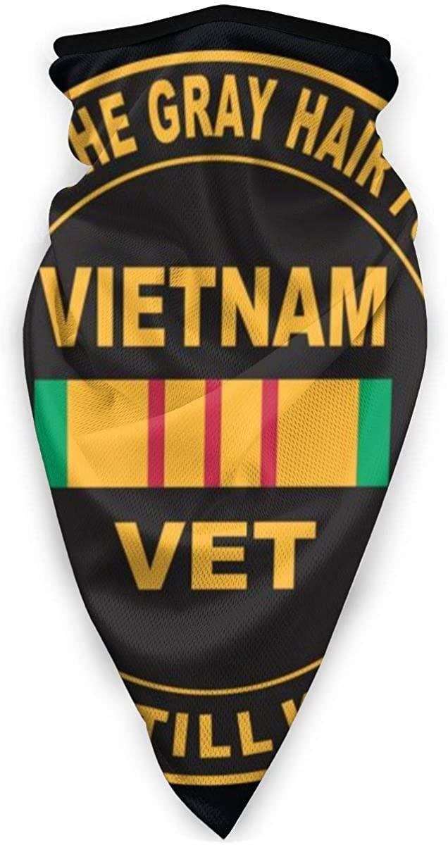 Vietnam Vet Face Shield - Multipurpose Neck Gaiter, Unisex Windproof Sports Mask Outdoor Scarf Neck Warmer Bandana Balaclava Headwear