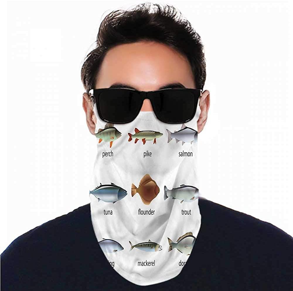 Headband Fish,Aquatic Animal Collection Seamless UV Protection