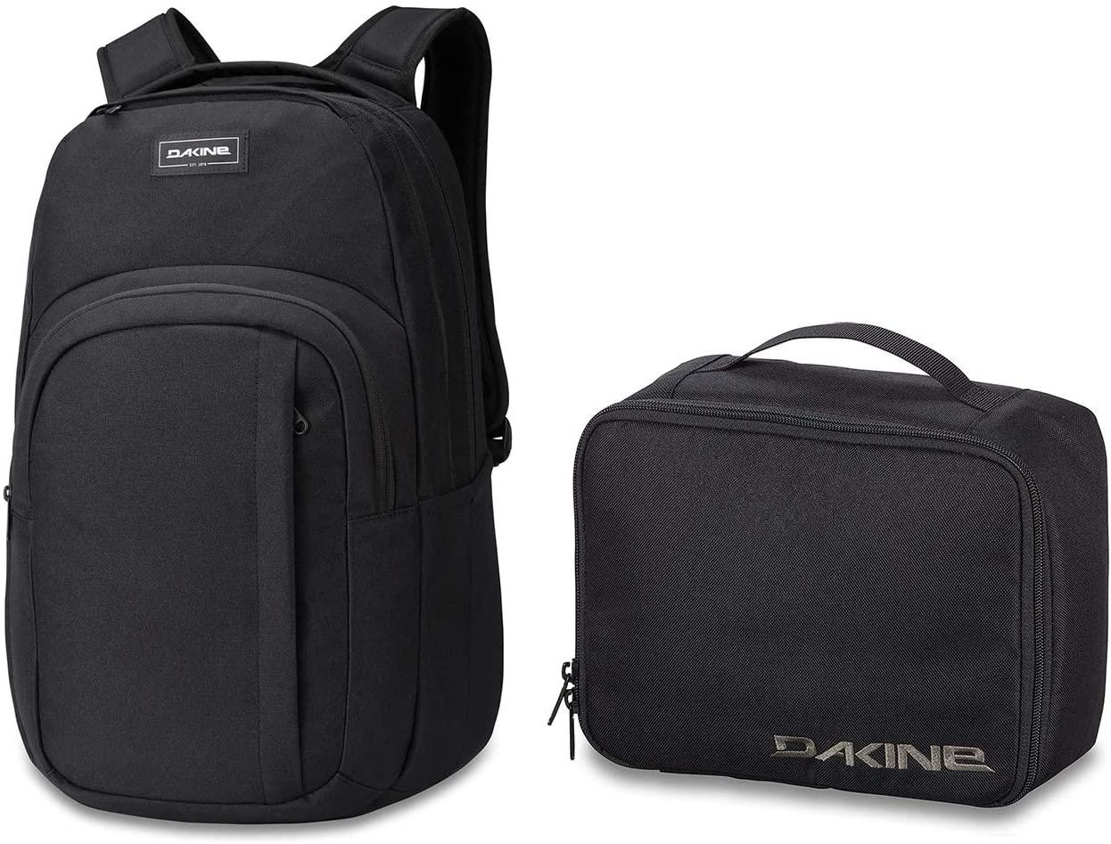 Dakine Campus L Backpack 33L & Dakine Lunch Box 5L Bundle | Quick-access Storage, Roomy Construction, Matching Set (Black)