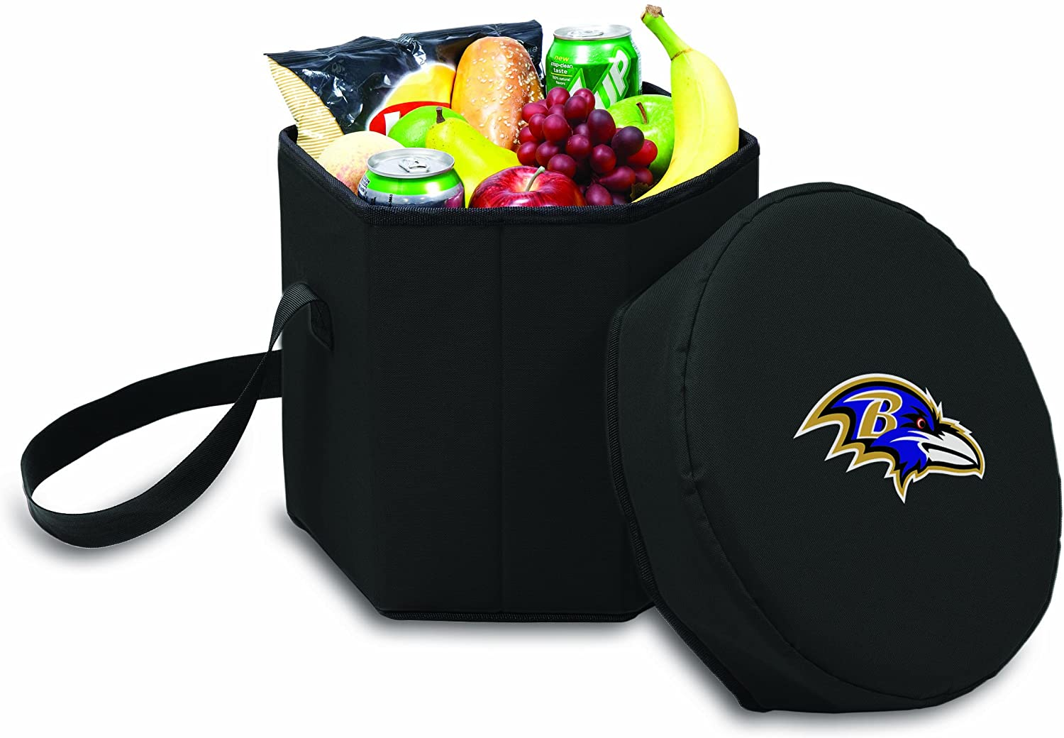 NFL Baltimore Ravens Bongo Insulated Collapsible Cooler, Black