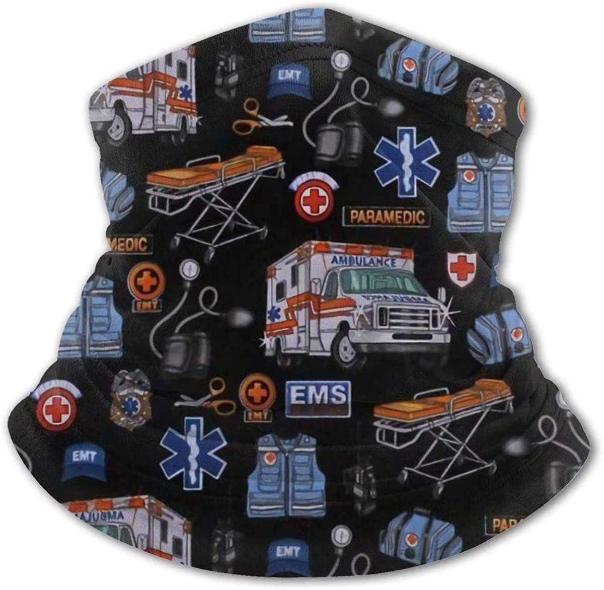Ambulance Neck Gaiter Balaclava Bandana Headwear Cooling Scarf Variety Face Towel