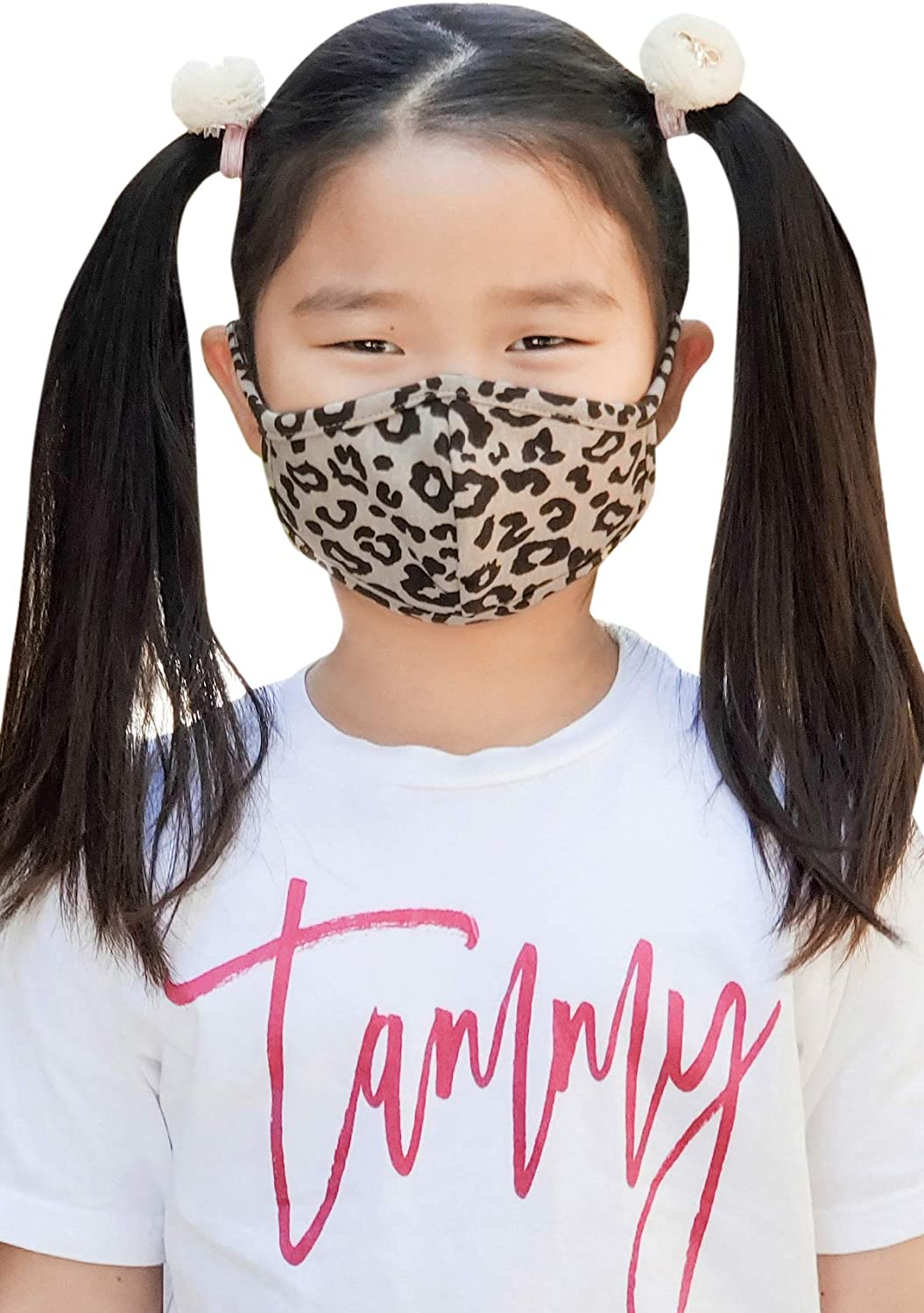 Kid's Fabric Face Cover - Cute Print Fashion Outdoor Cloth Covering Protection Comfy Breathable Mouth Shield Unisex