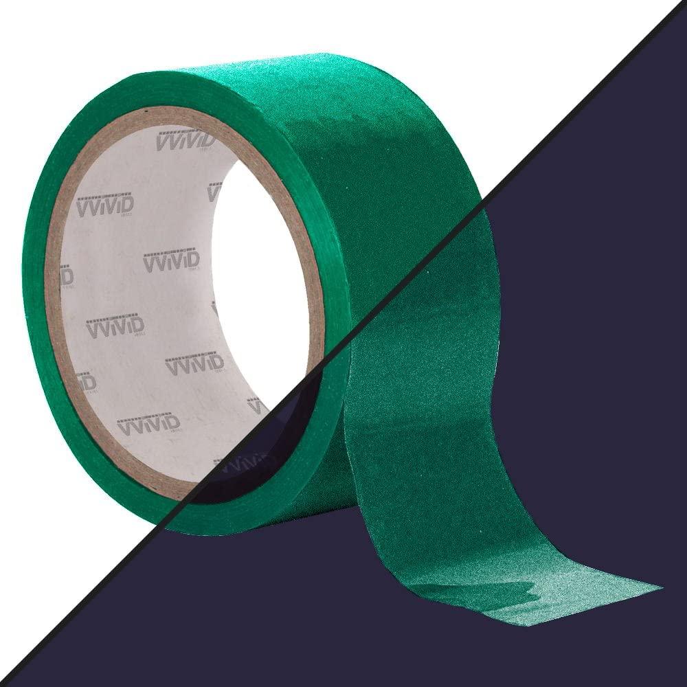 VViViD DECO65 Reflective Green Permanent Adhesive Craft Vinyl Tape Roll (4
