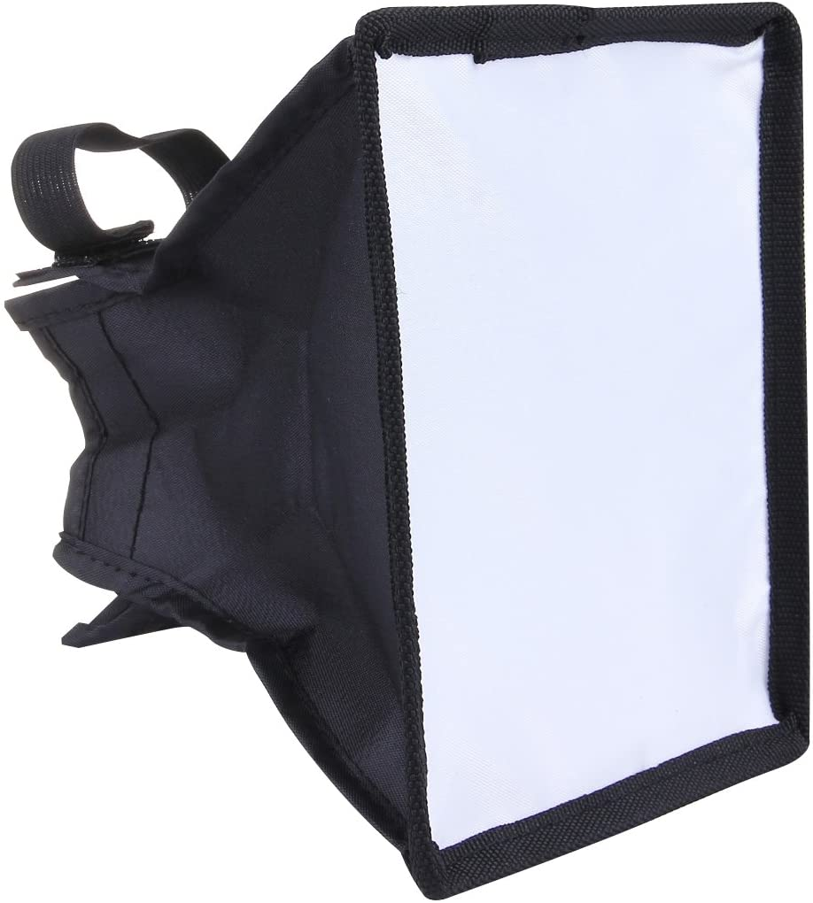LUOKANG Camera Accessories Portable Flash Folding Soft Box, Without Flash Light Holder, Size: 15 x 17 cm(Black + White)