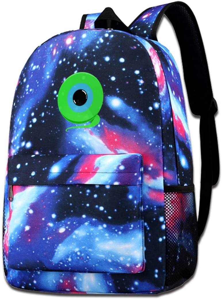 Casual Backpack Jack's Septic Eye Starry Sky Bookbag Light Portable Tourism Daypack