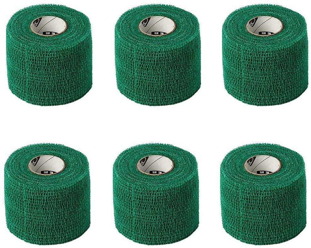 Powerflex 2 Stretch Athletic Tape - 6 Rolls, Green