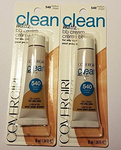 Covergirl Clean Matte BB Cream #540 Medium .34 fl. oz. (Pack of 2) (.34 fl. oz.)