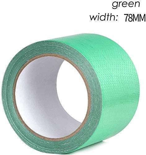 NIQA Plastic Pe Blue Green Waterproof Cloth Tarpaulin Repair Tape, Self Adhesive Repair Woven Bag Three Anti-Clothing Tape 0627 (Color : D, Size : 78 mm Wide x 8 m Long)
