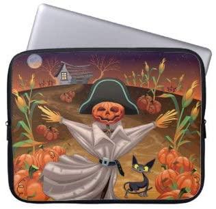 Halloween Scarecrow Laptop Sleeve Bag Notebook Computer PC Neoprene Protection Zipper Case Cover 13 Inch