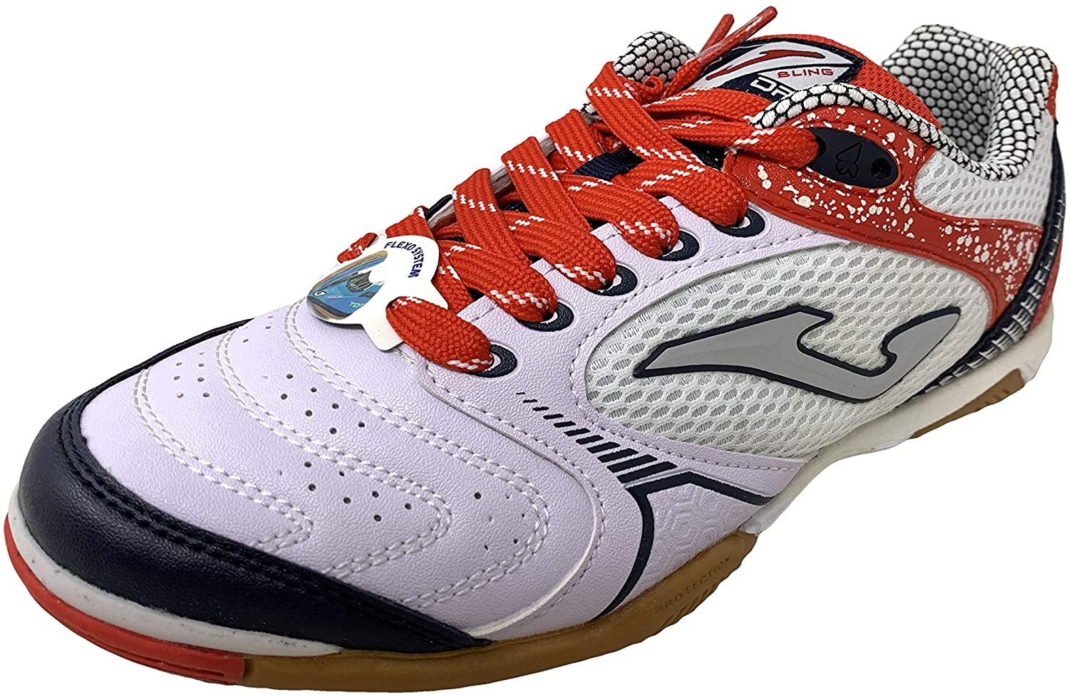Joma Mens Dribling Indoor Soccer Shoe (8 M US, White-Red 821)