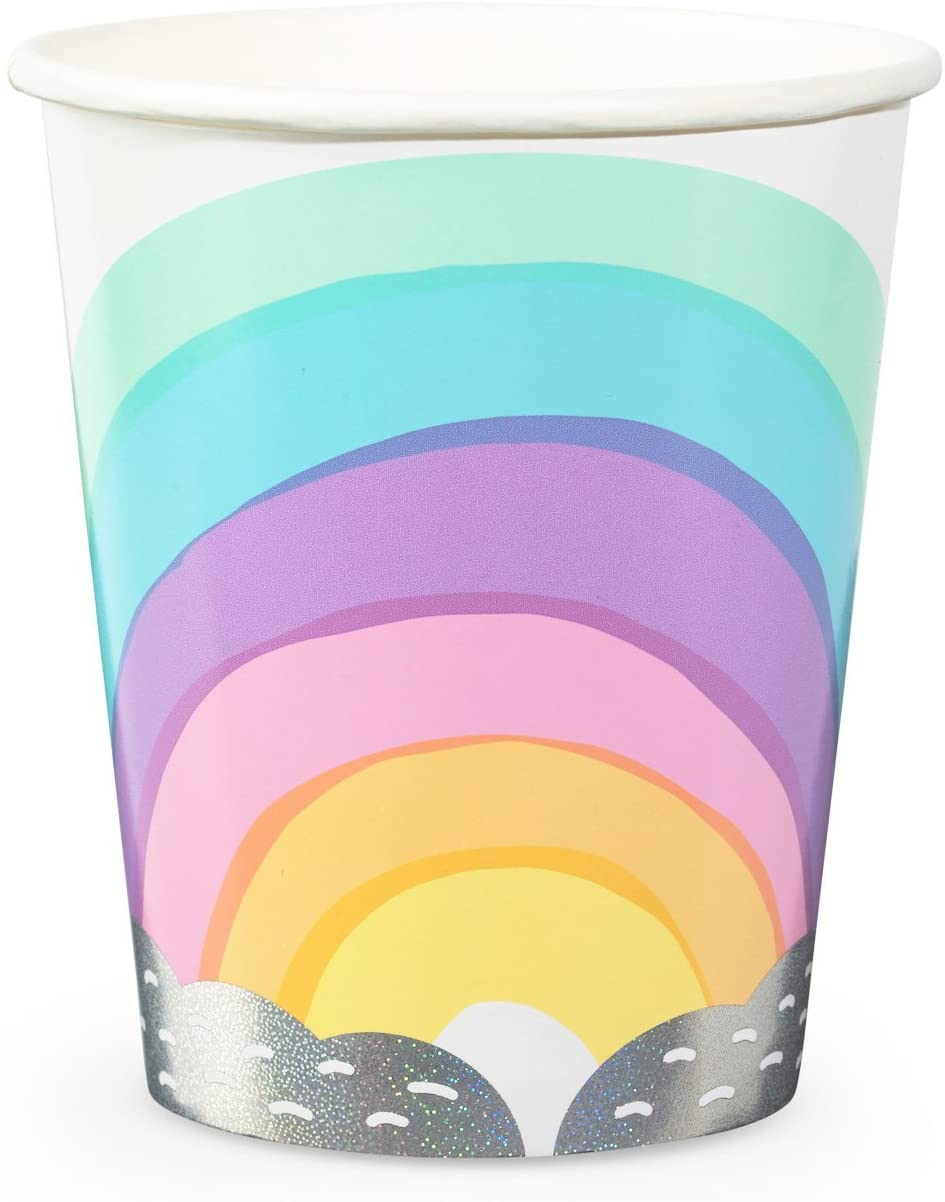Daydream Society Pastel Over the Rainbow Paper Party Cups, Pack of 8