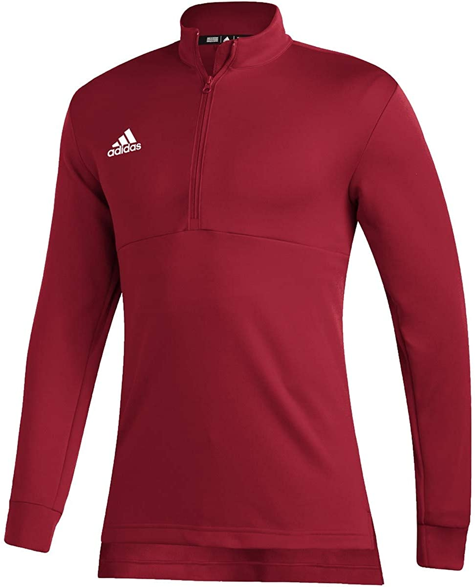 adidas Team Issue Quarter-Zip Top - Men's Casual 3XLT Team Power Red/White