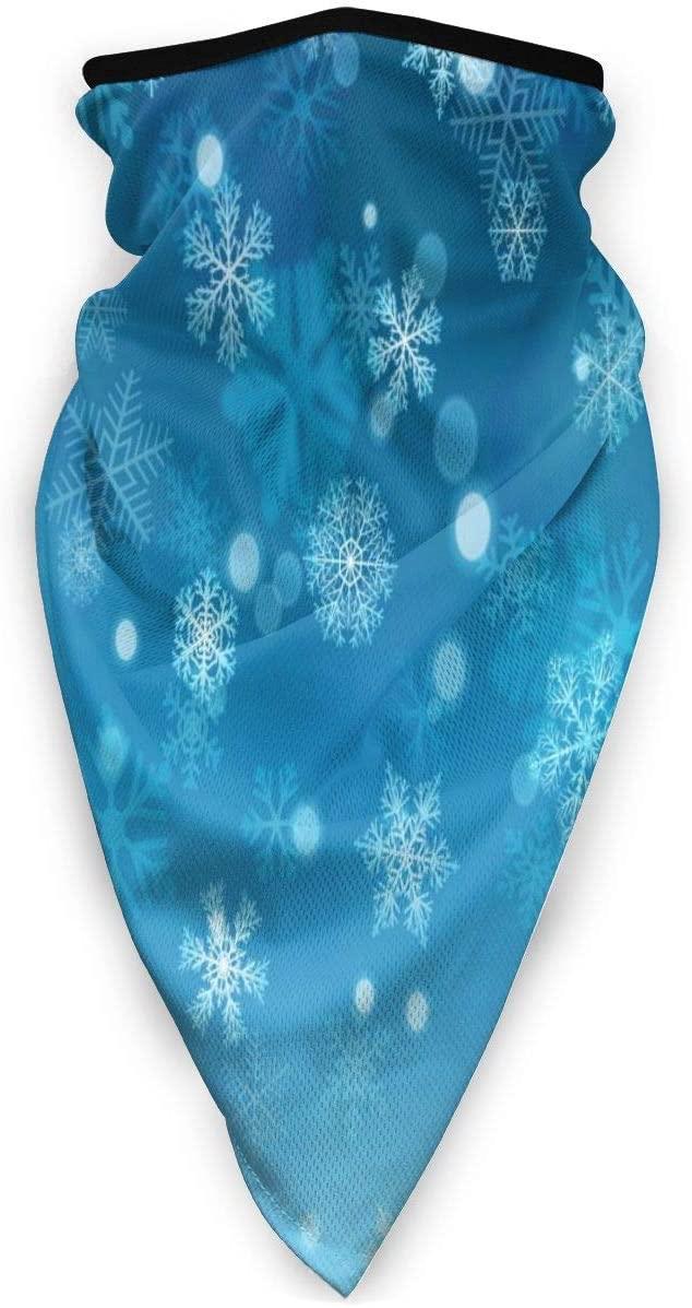 Love Animal Christmas Snowflakes On Light Blue Background Half Face Mask Balaclava Women Men Ski Mask Bandana for Cycling