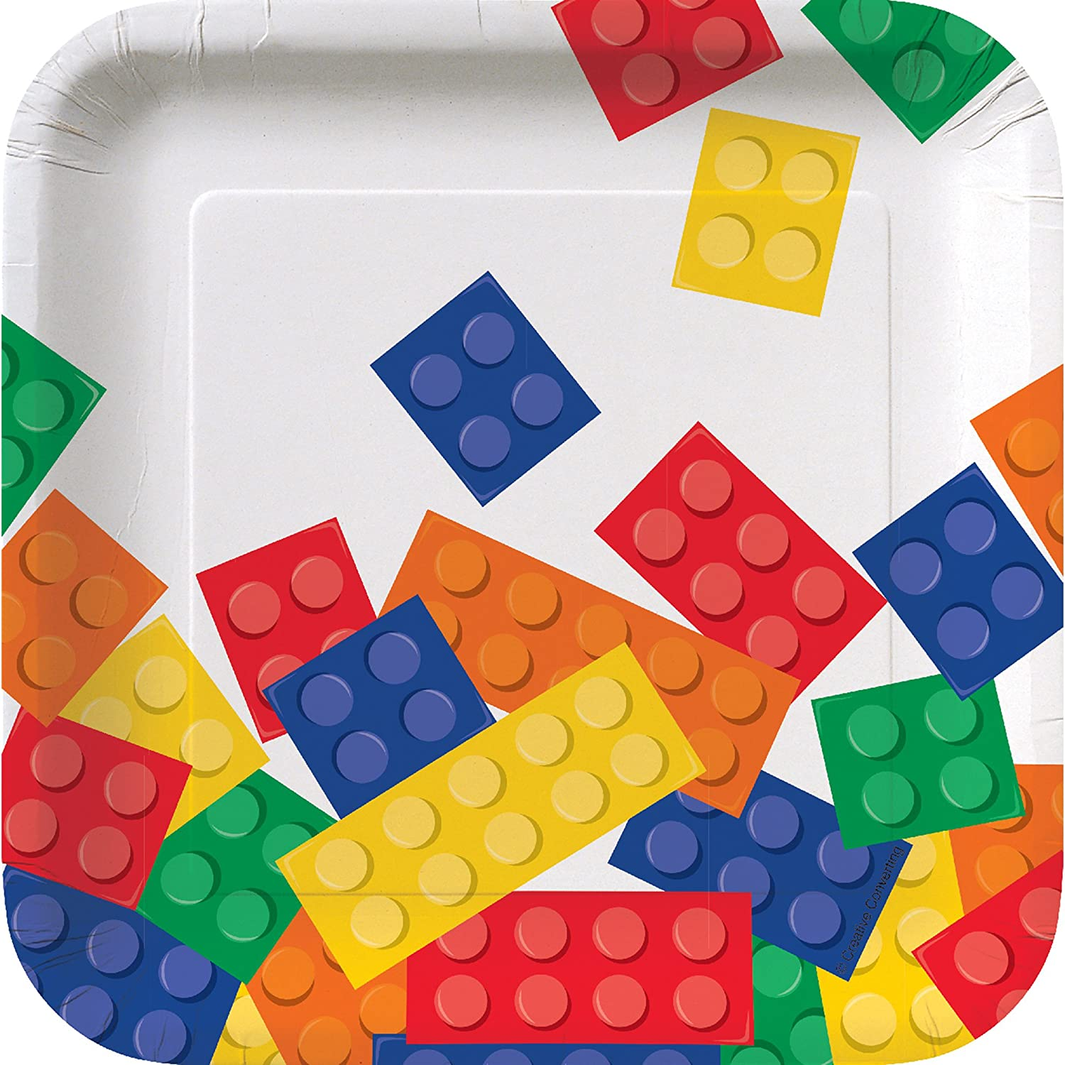 Creative Converting 8-Count Square Paper Lunch Plates, 7