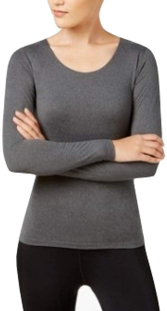 32 DEGREES Cozy Heat Long-Sleeve Top Grey XXL