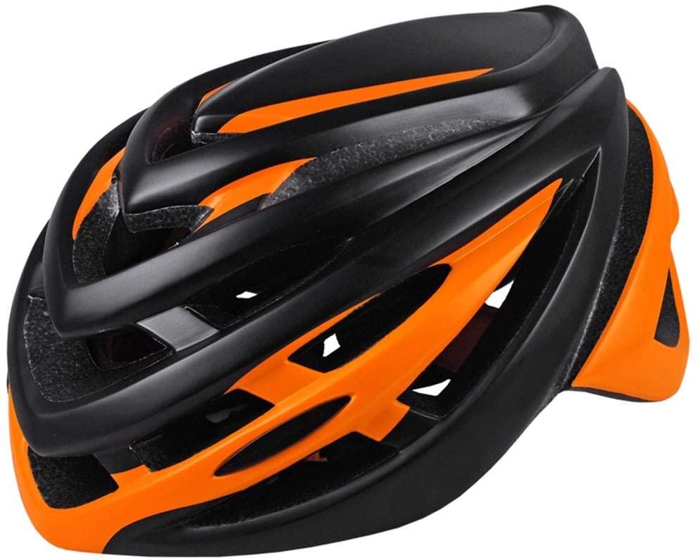 Cycling Helmet Comfortable Lightweight Helmet Back Light Mountain Road Bike Fully Shaped Cycling Helmets for Men Women (Color : C)
