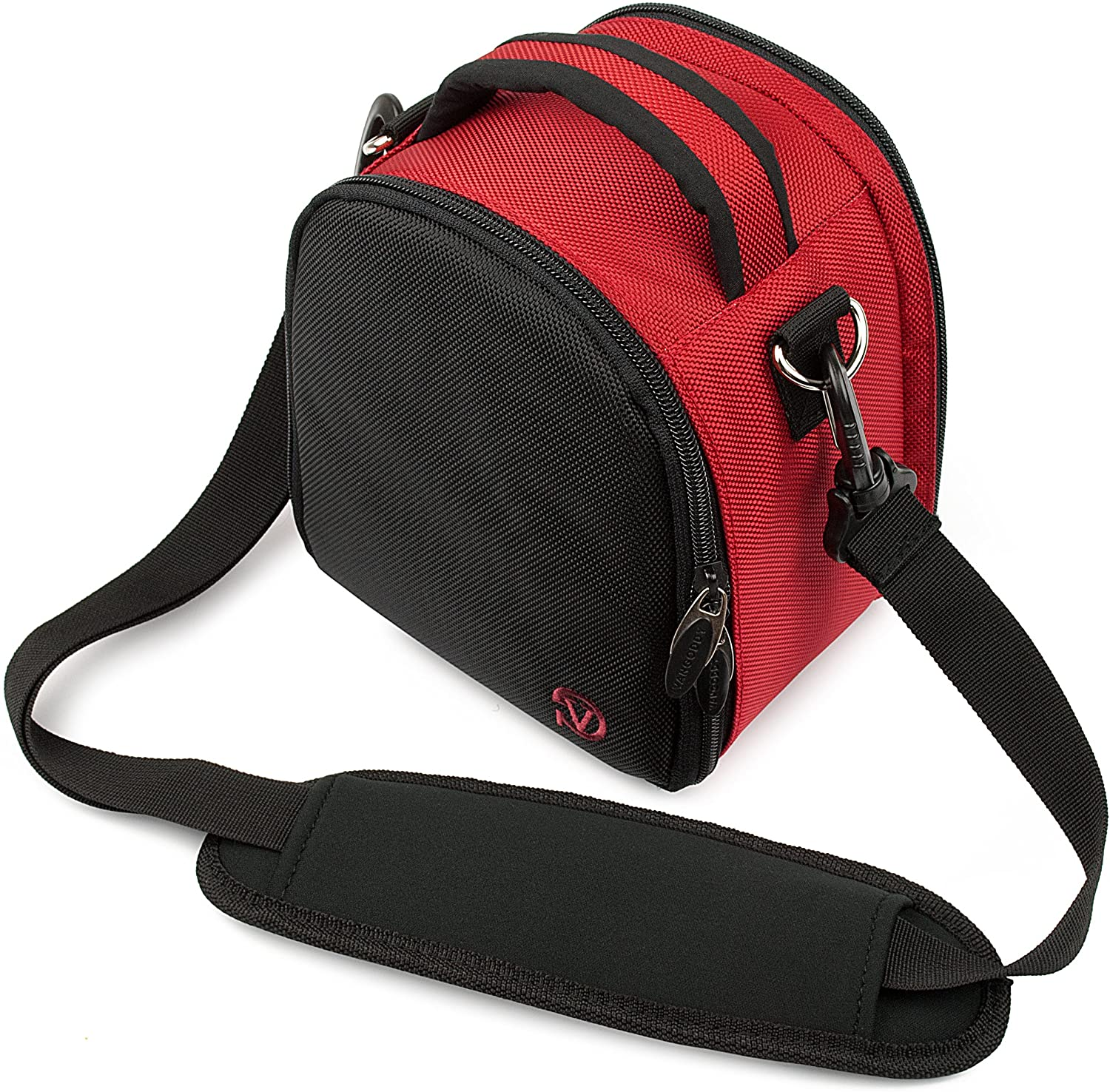 Ultralight Camera Case Red Bag with Attachable Strap for Ricoh WG M2 GR II WG 50 WG 5 GPS WG 30 Wi fi Theta V SC S m15