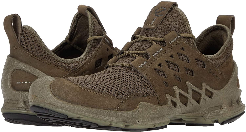 Ecco Outdoor Men's Biom AEX Gore-TEX Waterproof Trainer Sneaker, Tarmac/Dark Clay Nubuck