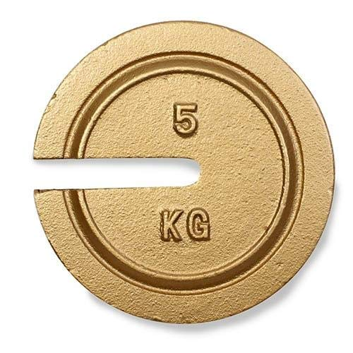 Ohaus 30391622, Weight, 5 kg, NIST F, Slotted (Pack of 2 pcs)