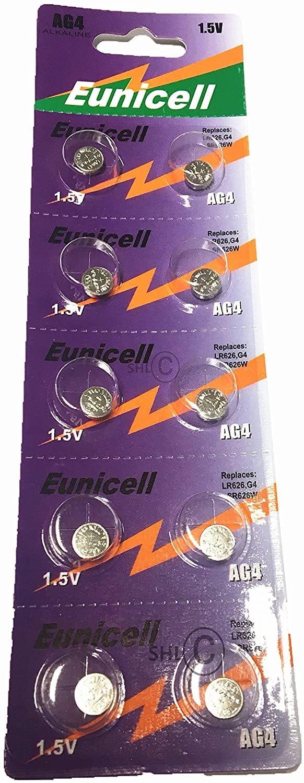 GOOP AG4/LR626/377/177 1.5V Alkaline Cell Button Batteries (10 Packs/100 PCS) convinent