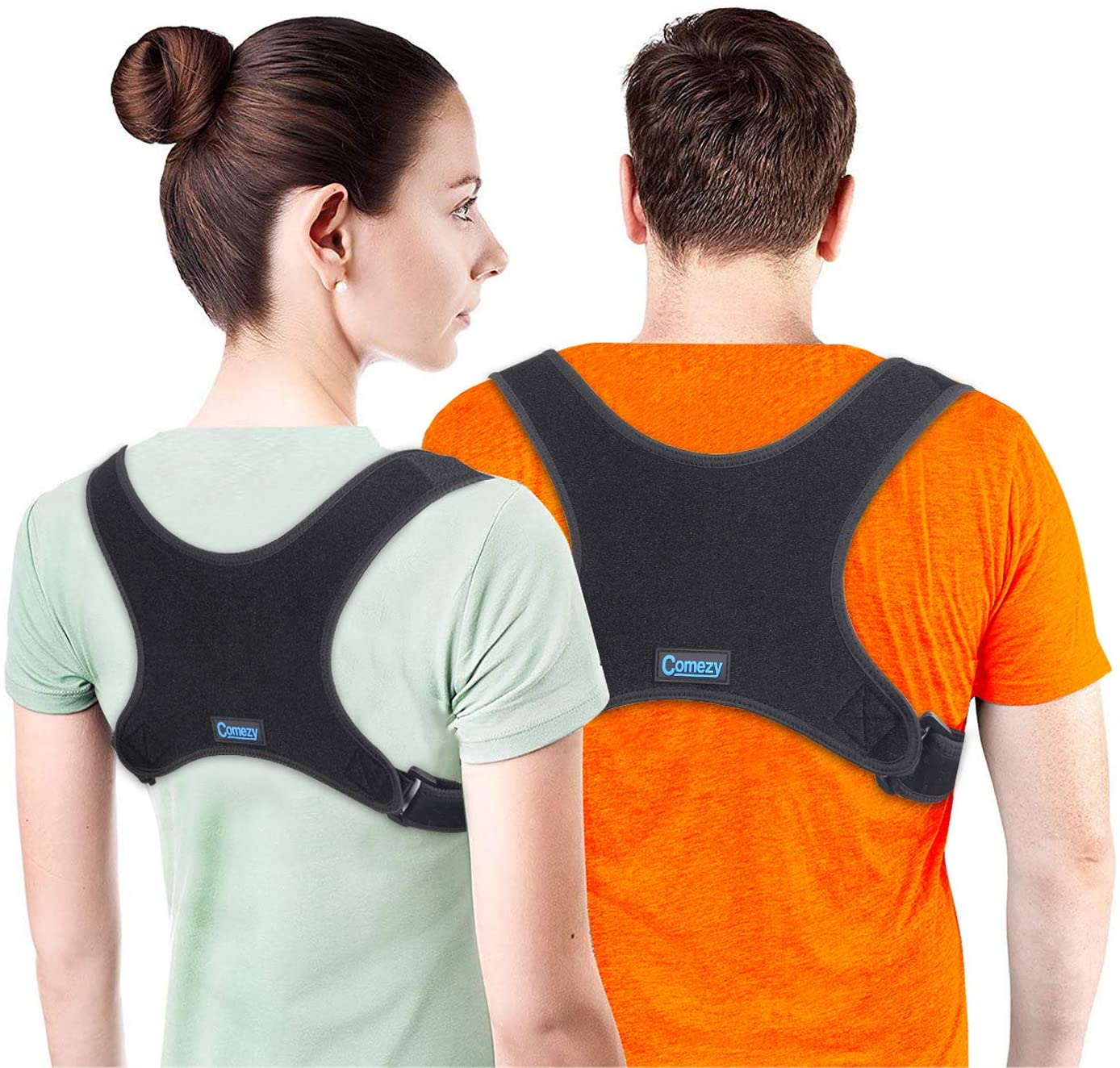 Comezy Posture Corrector for Women Men丨Effective Relieve Pain and Improve Posture Clavicle Brace丨Comfortable and Durable Support Back Brace(26-48 inch)