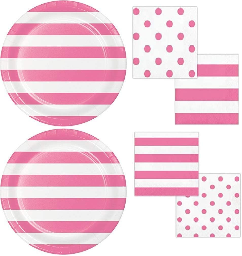 Candy Pink Dots and Stripes Party Bundle 9