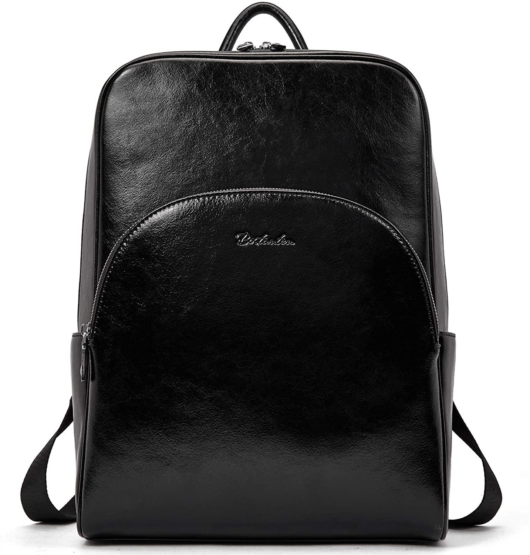 BOSTANTEN Genuine Leather Backpack for Women Casual Shoulder Bag Business Travel Daypack Satchel College Bag
