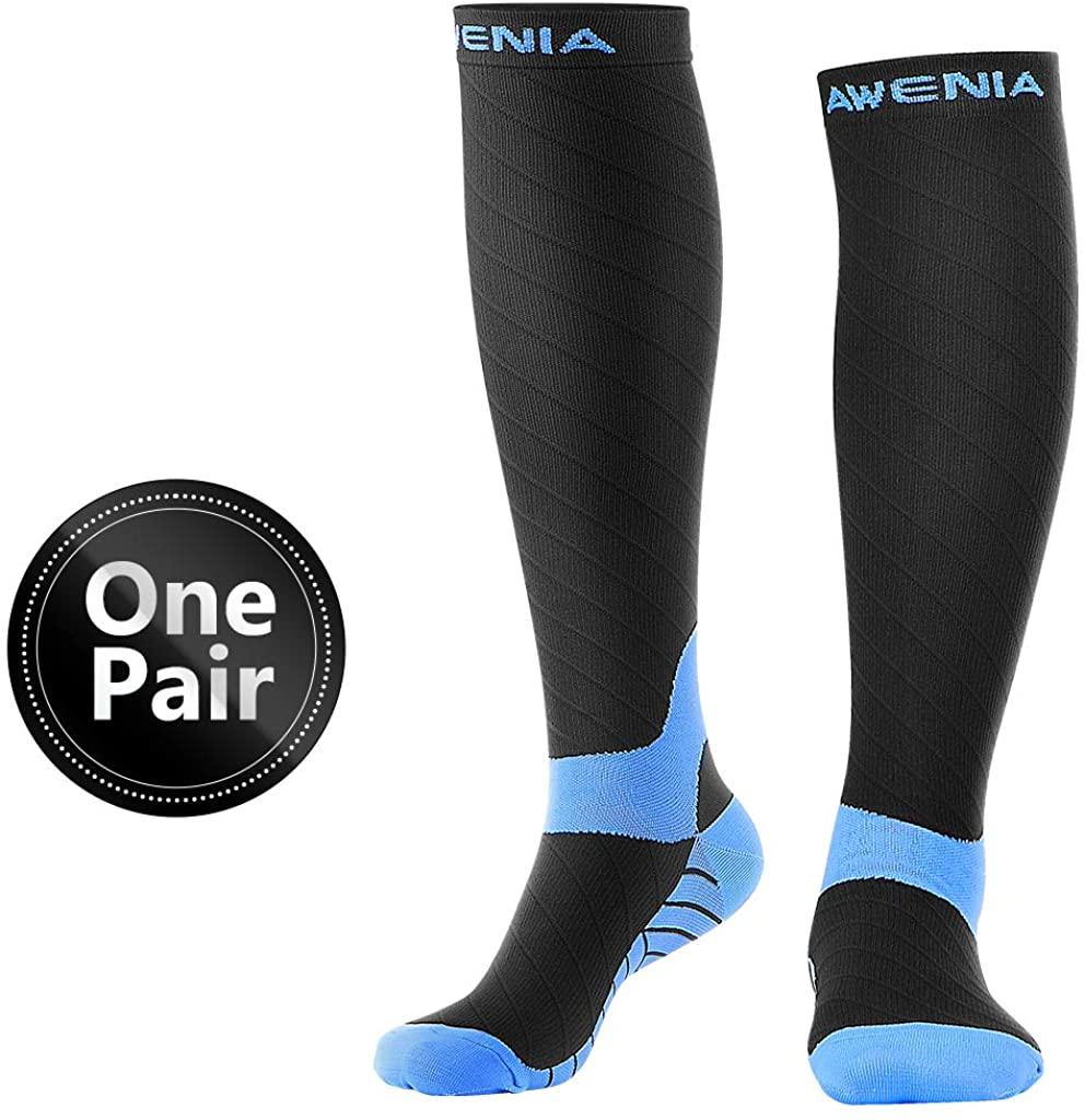 Awenia Compression Socks Women & Men 15-20mmHg Best Medical, Nursing, Hiking, Travel & Flight Socks-Running & Fitness