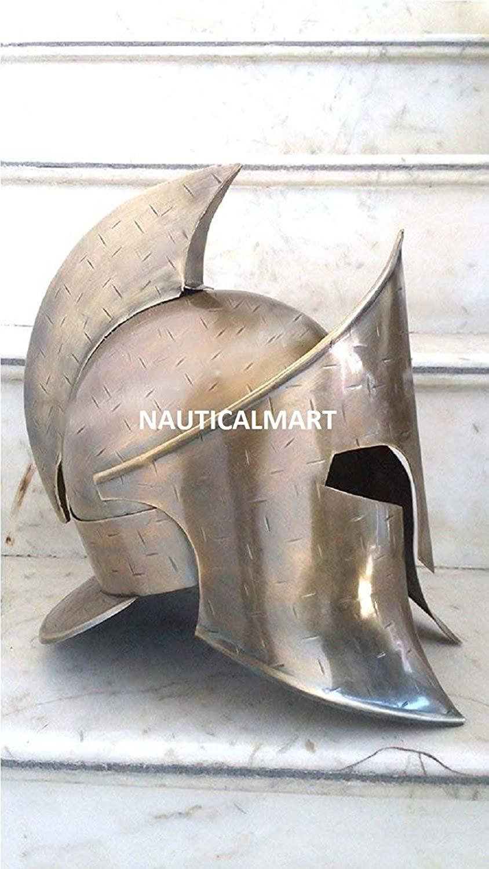 Spartan Antique Brass Medieval 300 Armor Helmet