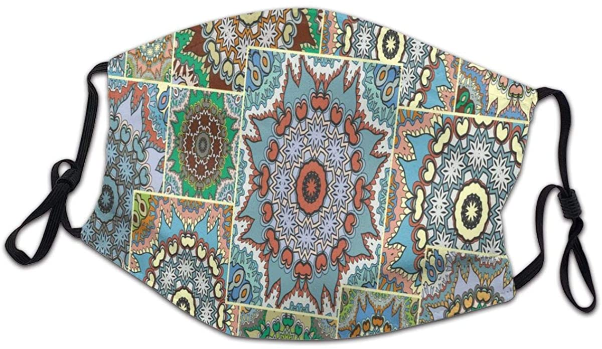 SLHFPX Patchwork Quilt Paisley Pattern Washable Reusable Kids Dust Cover Scarf Bandana for Boys Girls