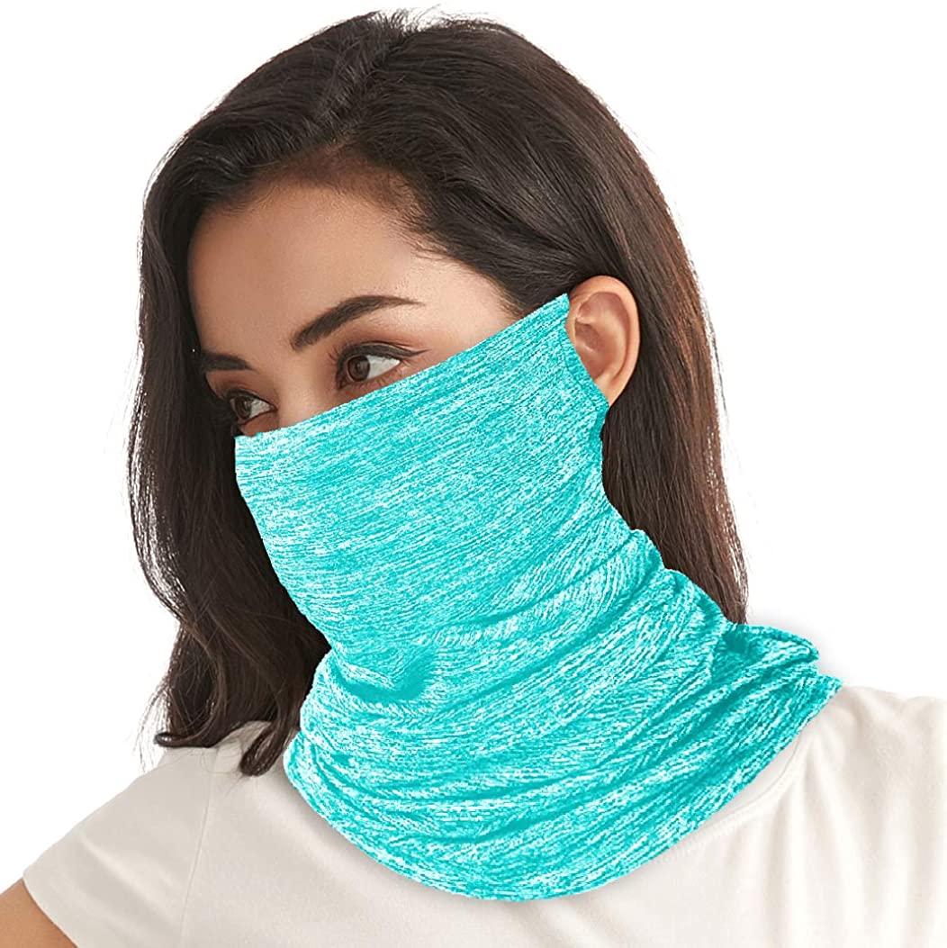 ICE Silk Microfiber 12 in 1 Multifunctional Headwear Face Mask Bandanas Neck Gaiter Balaclavas