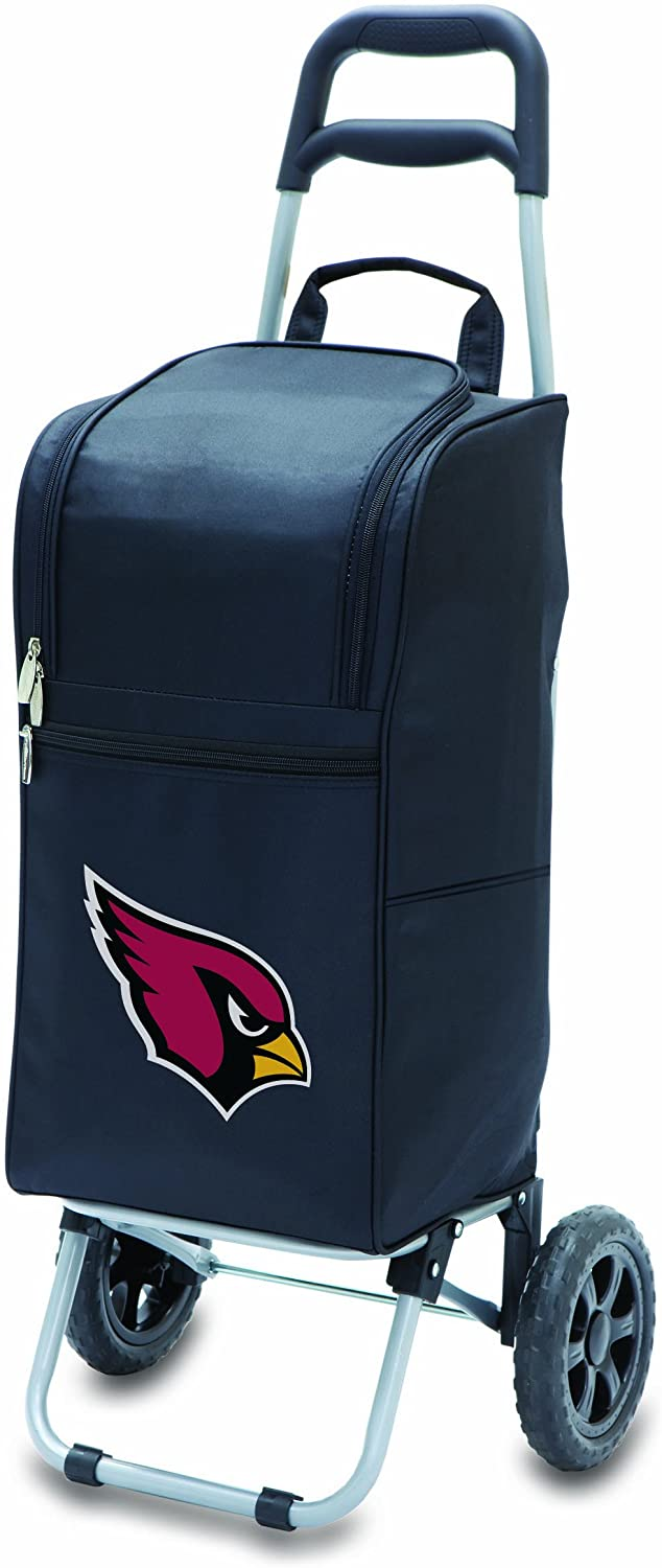 NFL Arizona Cardinals Insulated Cart Cooler with Wheeled Trolley, Black