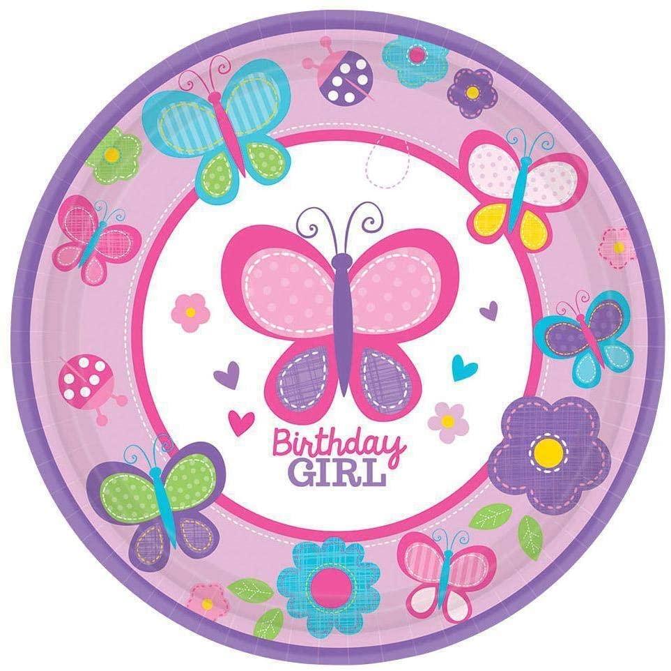 Amscan Sweet Birthday Girl Dessert Plates (18ct)