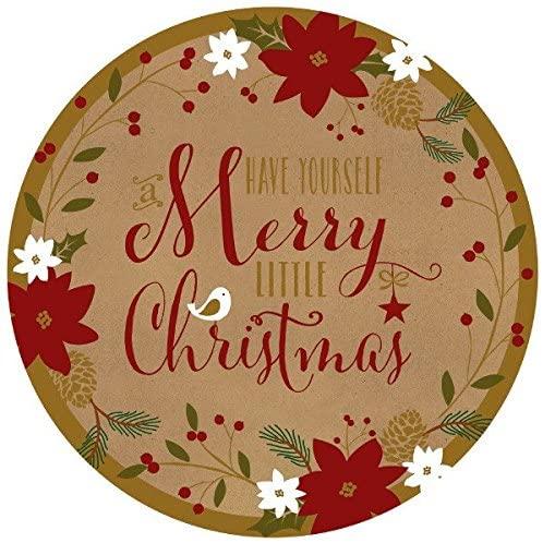 amscan Merry Little Christmas Round Dessert Paper Plates(18 Pieces), Multicolor, 7
