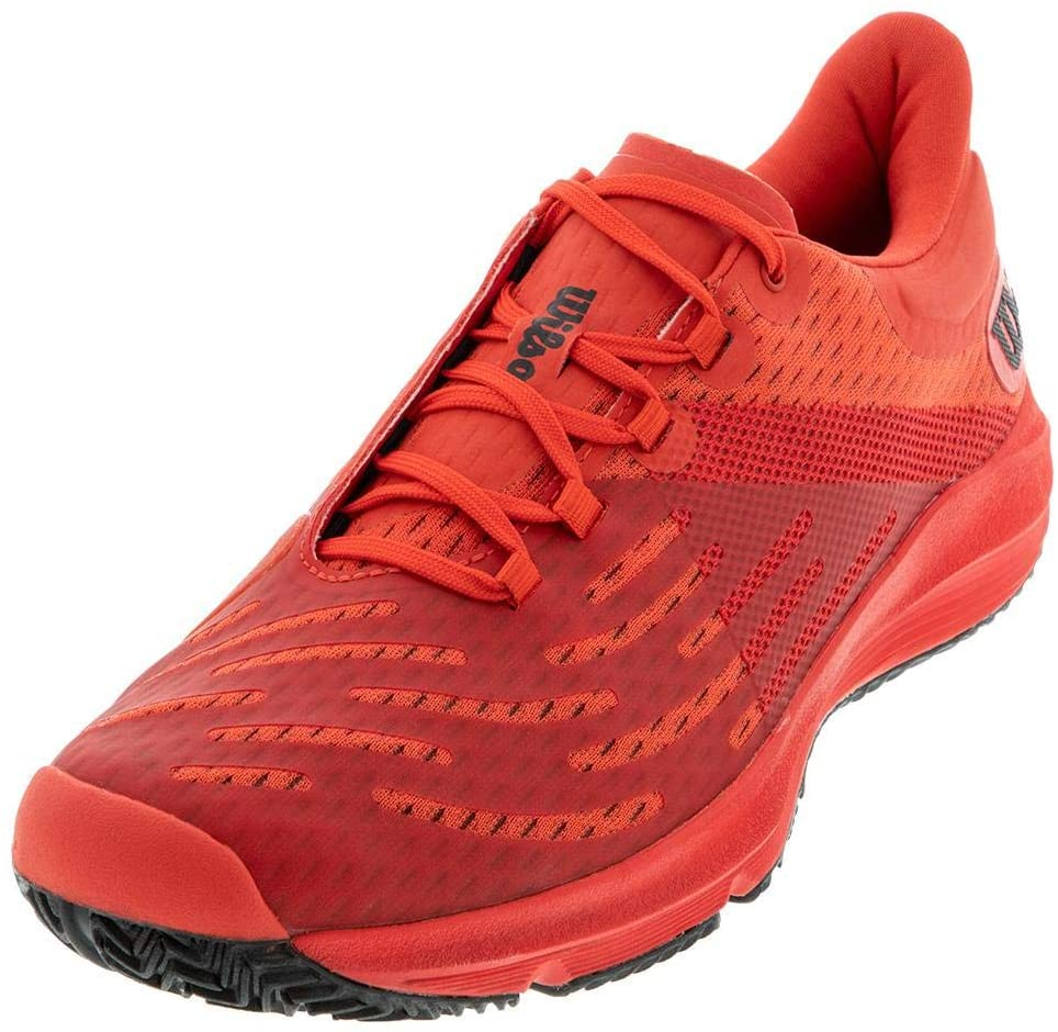 Wilson Men`s KAOS 3.0 Tennis Shoes Infrared Red and Black ()