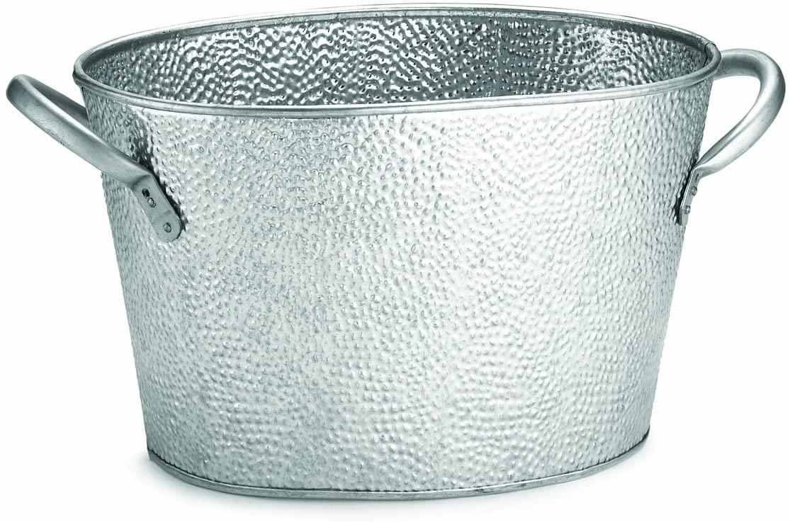 TableCraft GT159 Galvanized Collection Oval Beverage Tub, 15 x 8.6 x 7.4-Inch