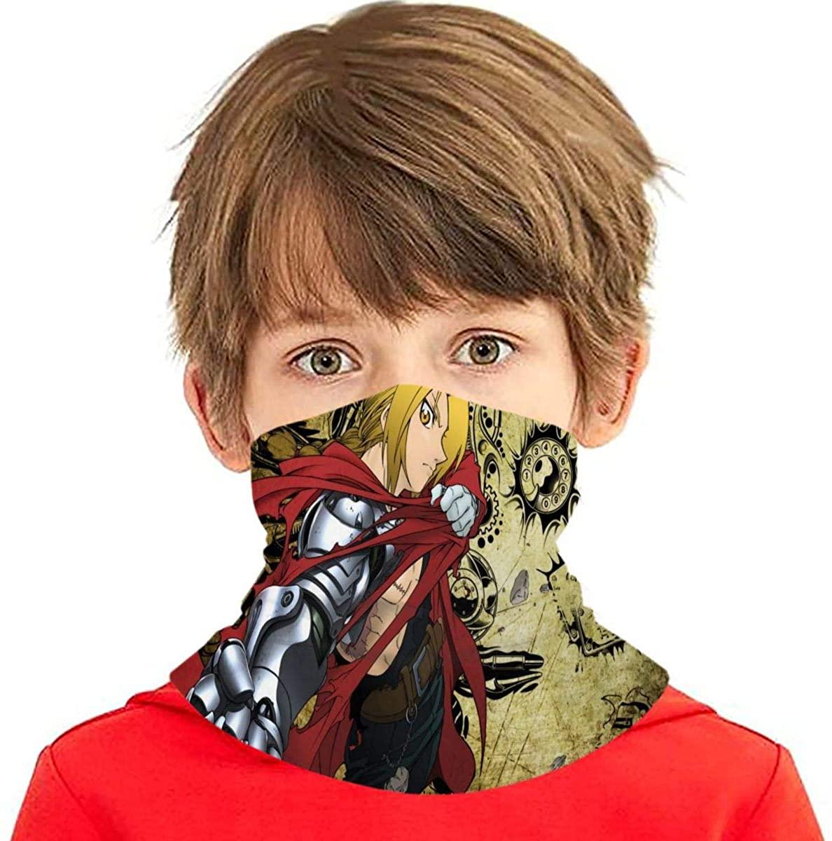 Fullmetal Alchemist Boys Ice Silk Balaclava Dustproof Face Masks for Cycling Neck Guard
