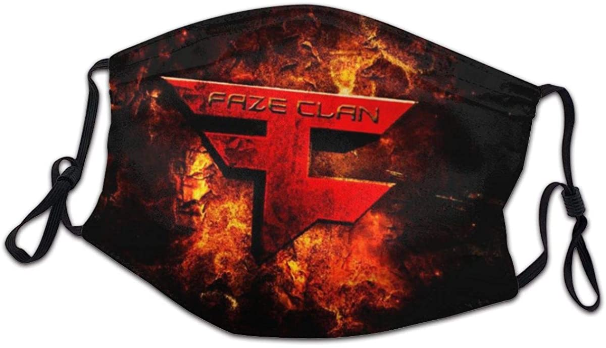 Faze Clan Logo Child Kids Mask with Filter Face Guard Anti Uv Health Dust Masks Suit for Hospital