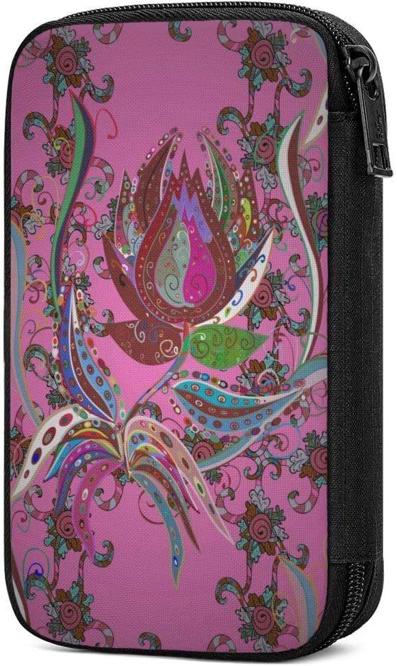 Electronic Accessories Organizer Bag Special Vintage Flower Purple Paisley Travel Cable Organiser Bag,Cable Tidy Storage Case Earbuds Sleeve Pocket Accessory Wallet for Charging Cable,USB Sticks,Power