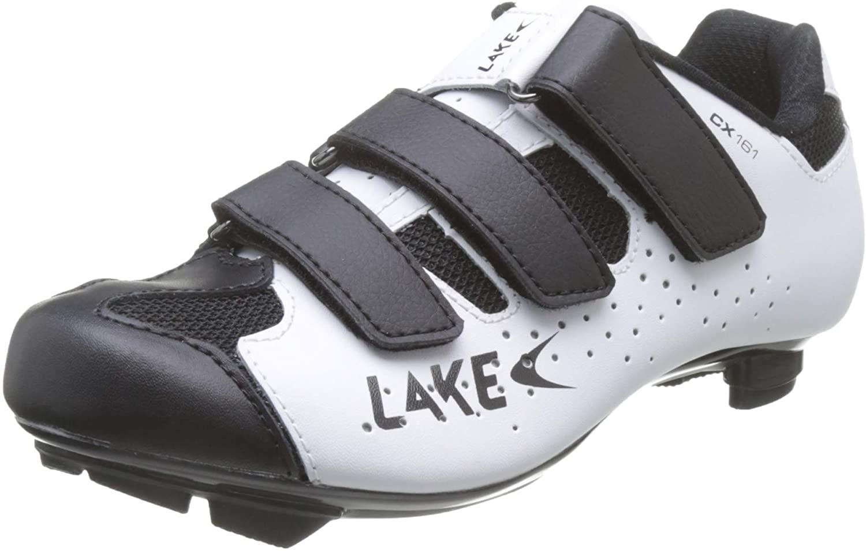 Lake CX161 Road Shoes - WHITE/BLACK, 42