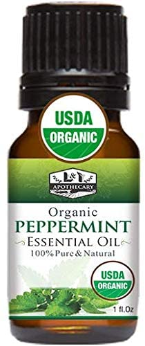 1 fl. Oz / 30 ml Organic Peppermint Essential Oil, USDA Certified Organic Peppermint Essential Oil, 100% Pure, Natural Peppermint Essential Oil