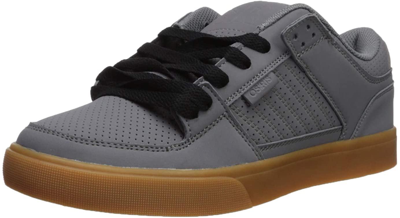 Osiris Mens Protocol Skate Shoe, Charcoal/Black/Gum, 7 M US